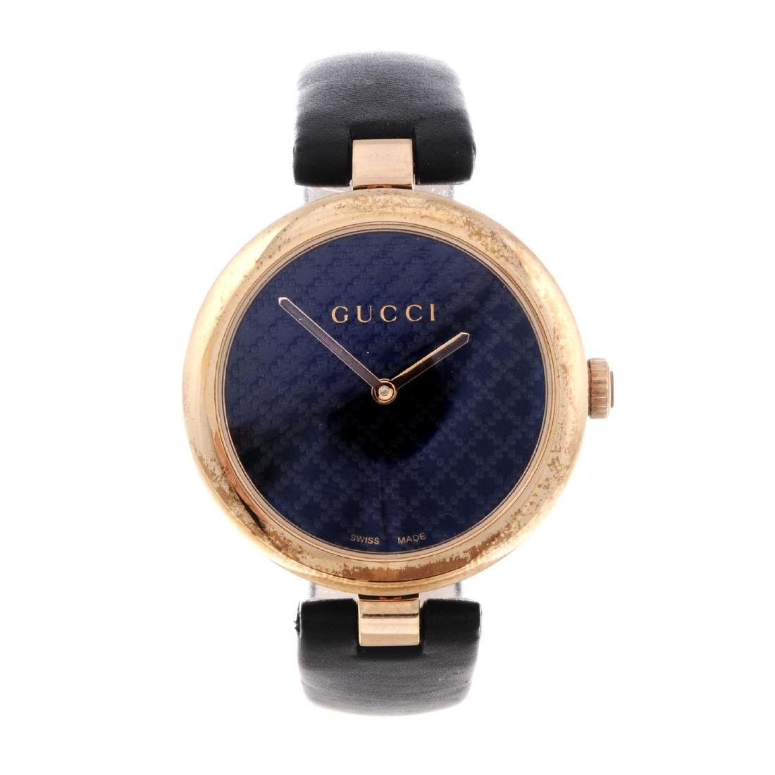 GUCCI - a lady's Diamantissima wrist watch. Gold plated