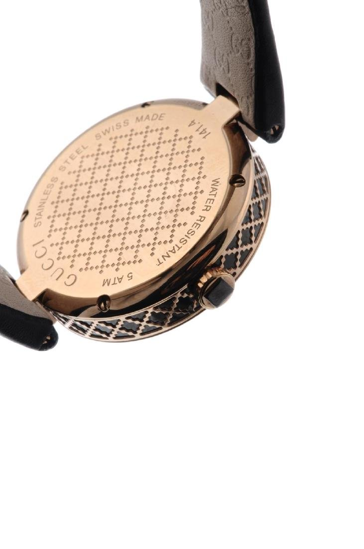 GUCCI - a lady's Diamantissima wrist watch. Gold plated - 3