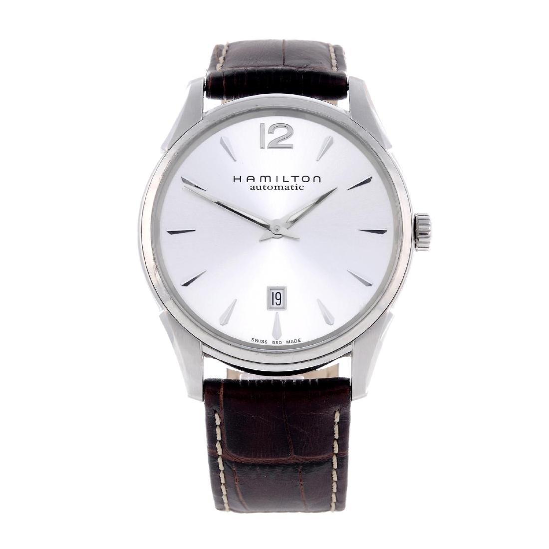 HAMILTON - a gentleman's Jazzmaster Slim wrist watch.