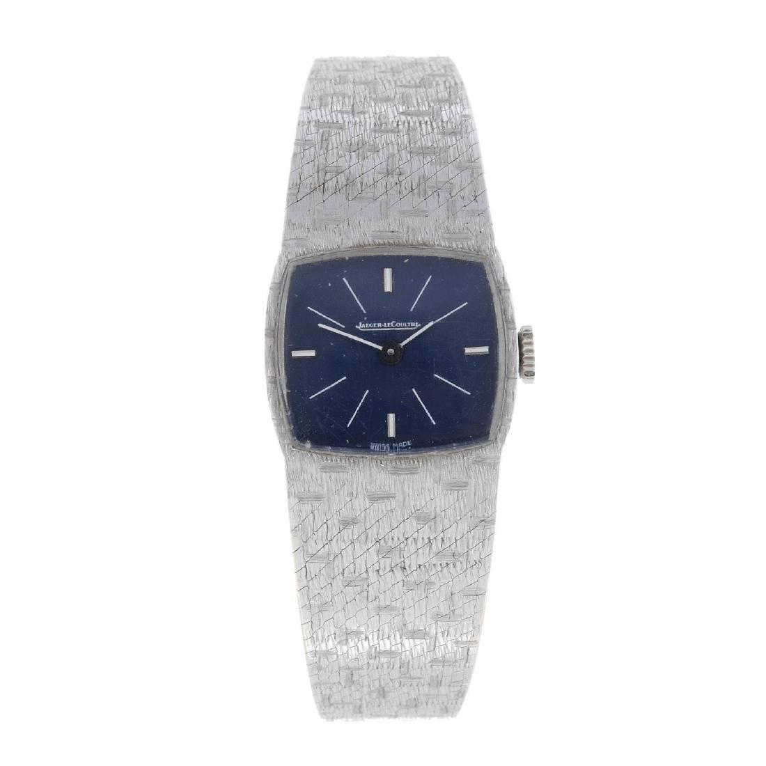 JAEGER-LECOULTRE - a lady's bracelet watch. White metal