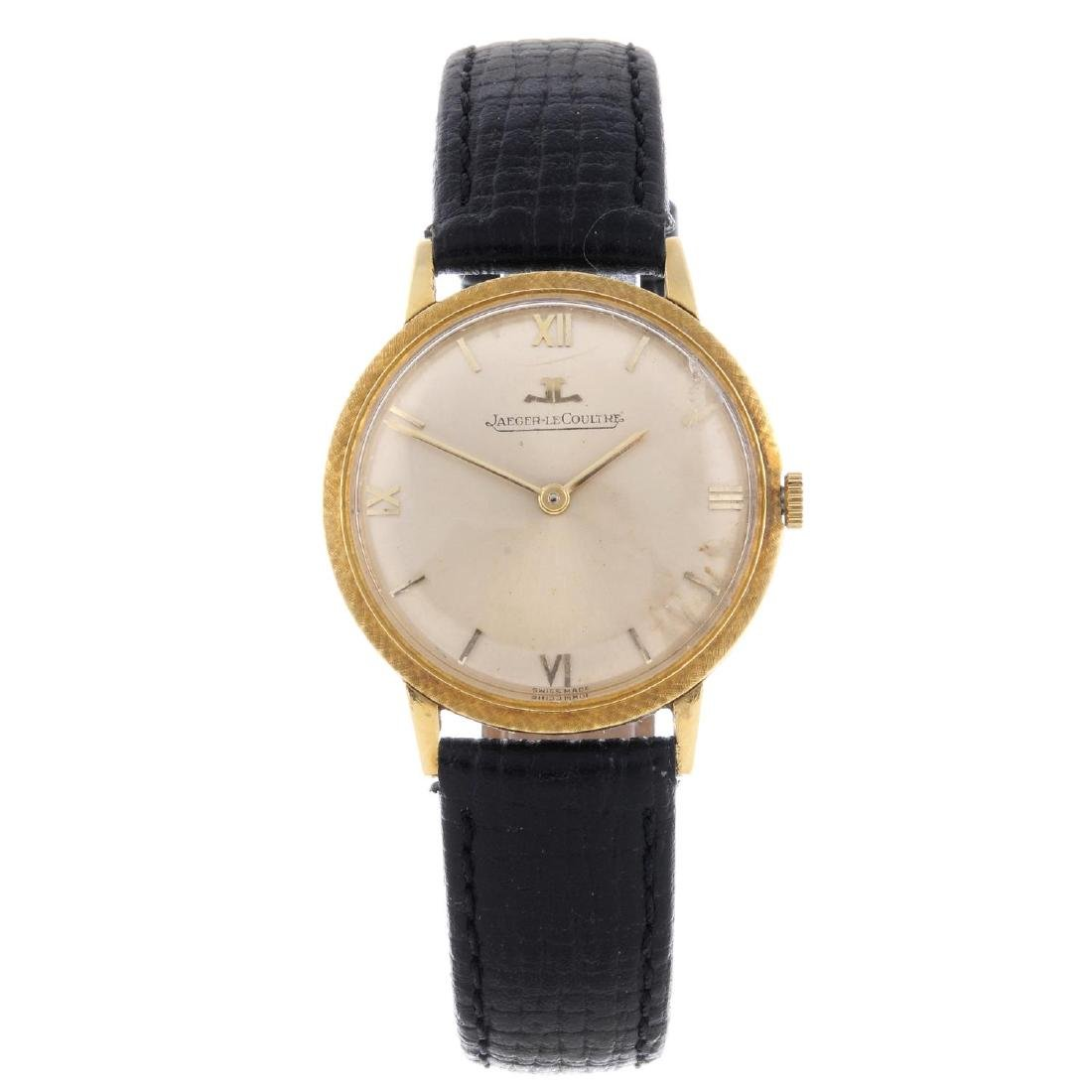 JAEGER-LECOULTRE - a gentleman's wrist watch. Yellow