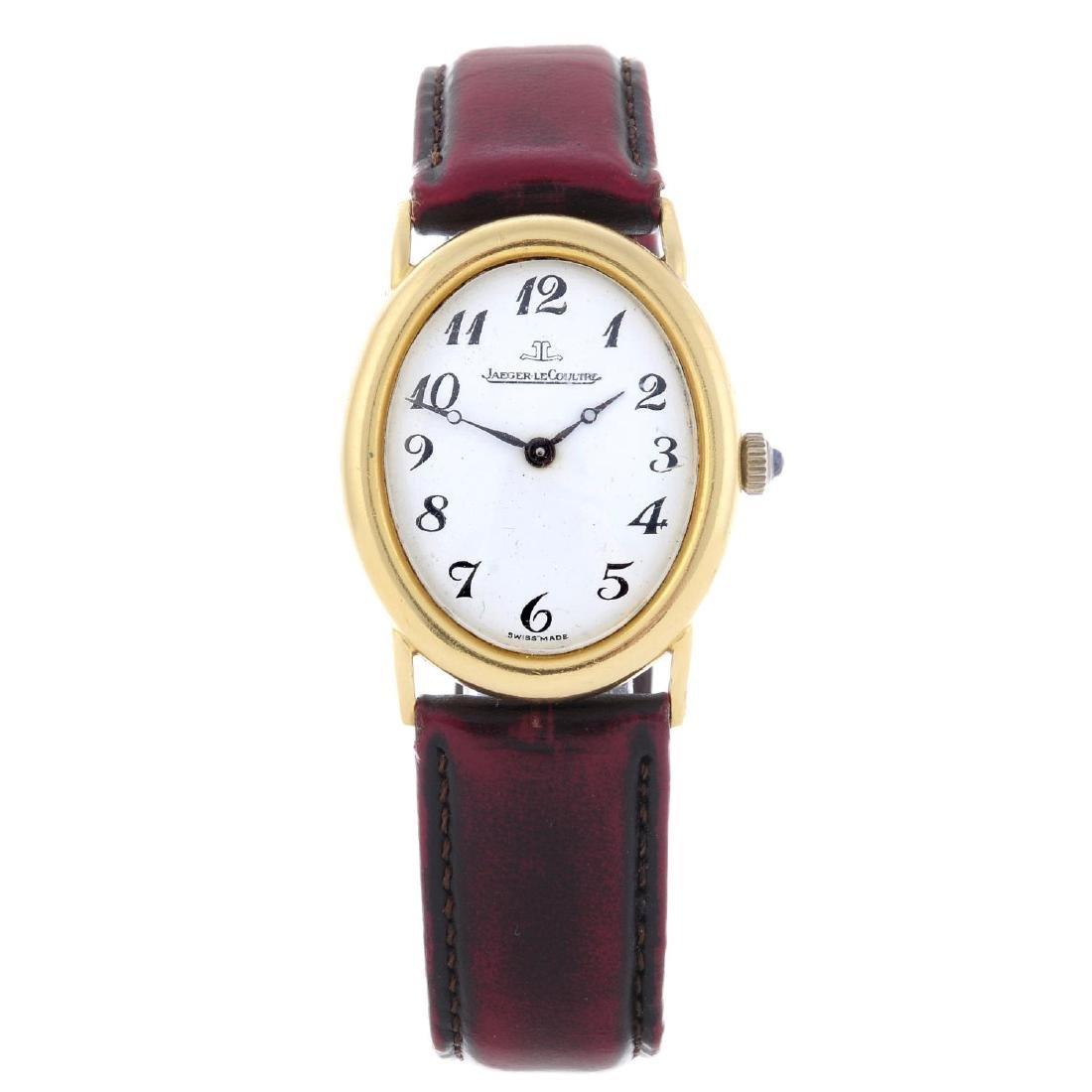 JAEGER-LECOULTRE - a gentleman's wrist watch. Yellow