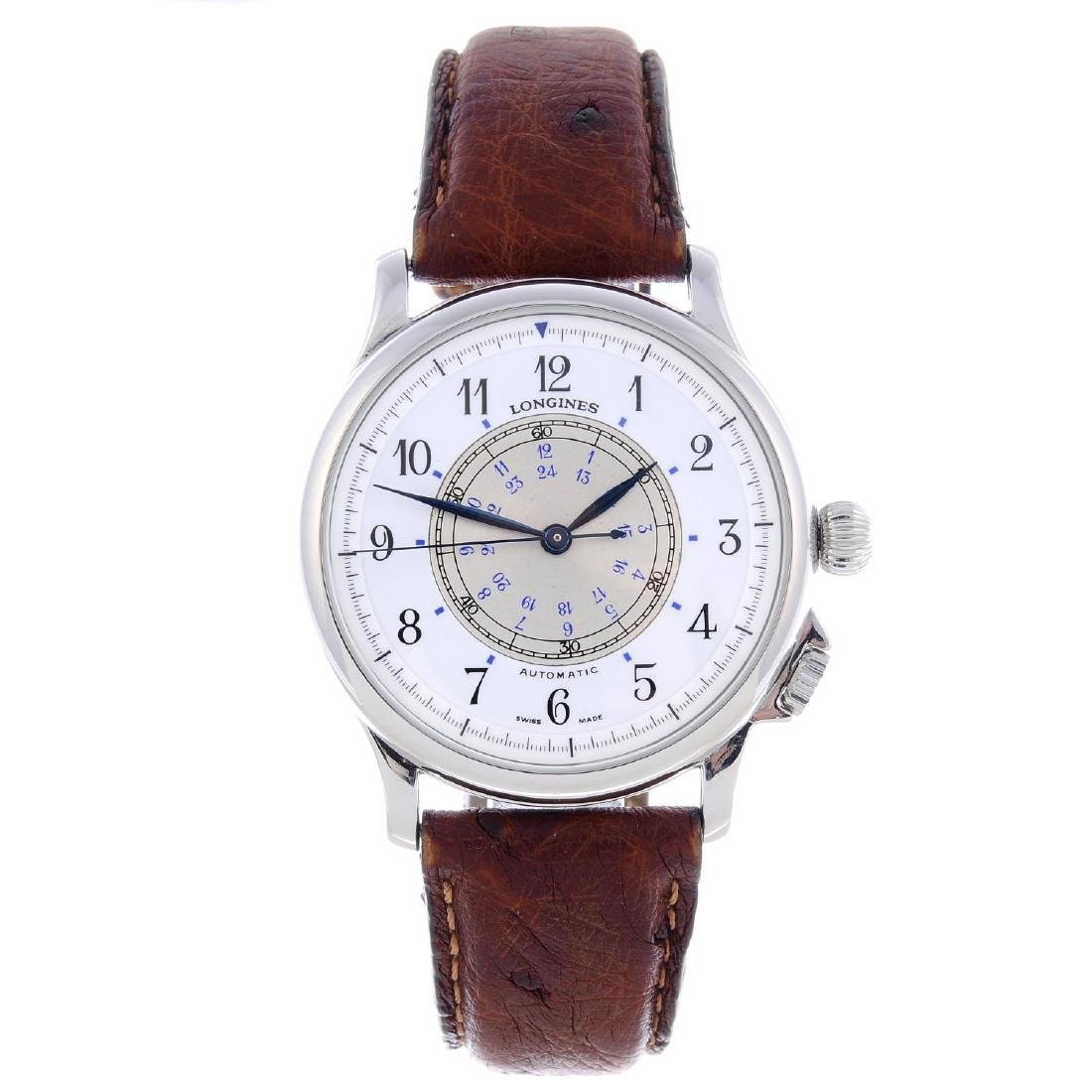 LONGINES - a gentleman's Navigation wrist watch.