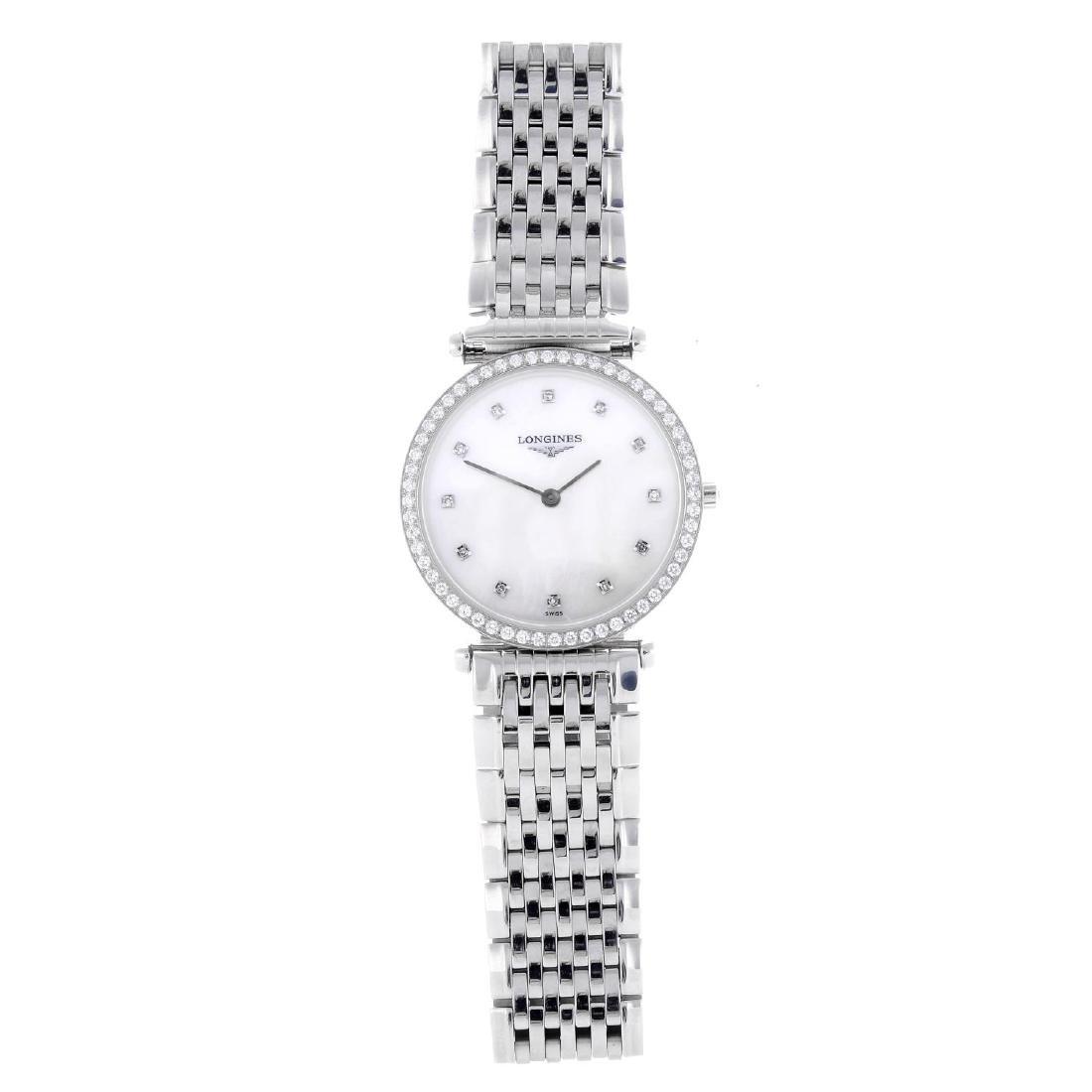 LONGINES - a lady's Grande Classique bracelet watch.