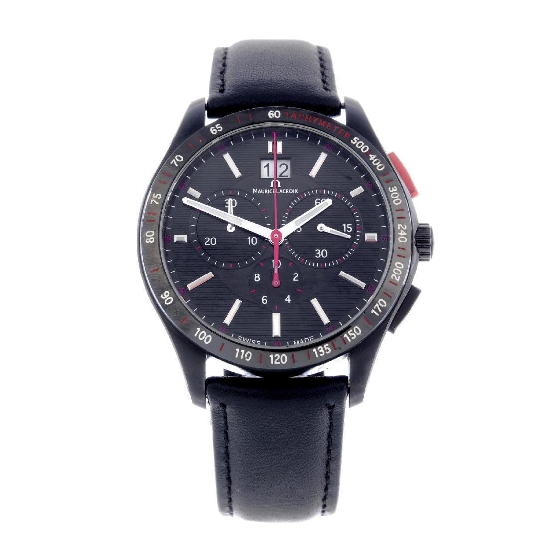 MAURICE LACROIX - a gentleman's Miros chronograph wrist
