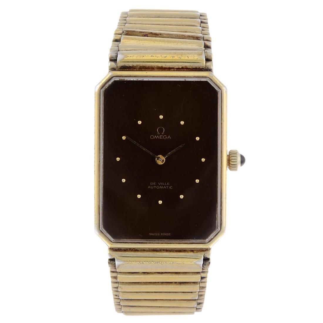 OMEGA - a gentleman's De Ville bracelet watch. Gold