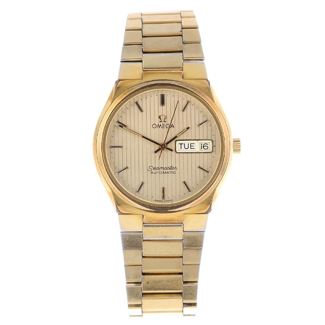 OMEGA - a gentleman's Seamaster bracelet watch. Gold