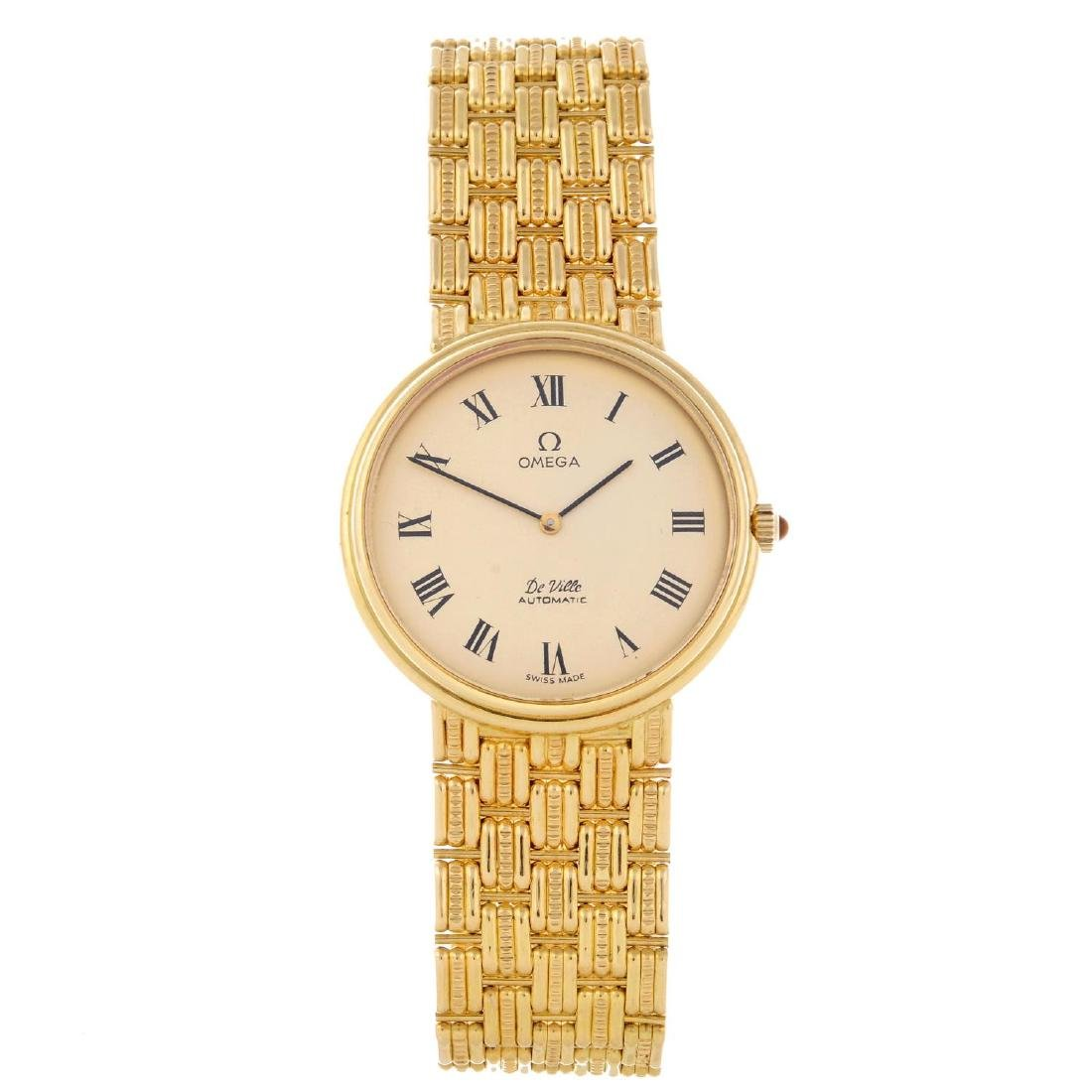 OMEGA - a gentleman's De Ville bracelet watch. 18ct