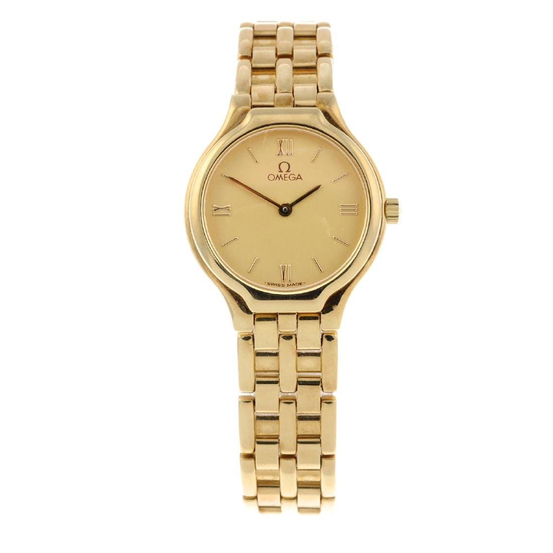 OMEGA - a lady's bracelet watch. 18ct yellow gold case.