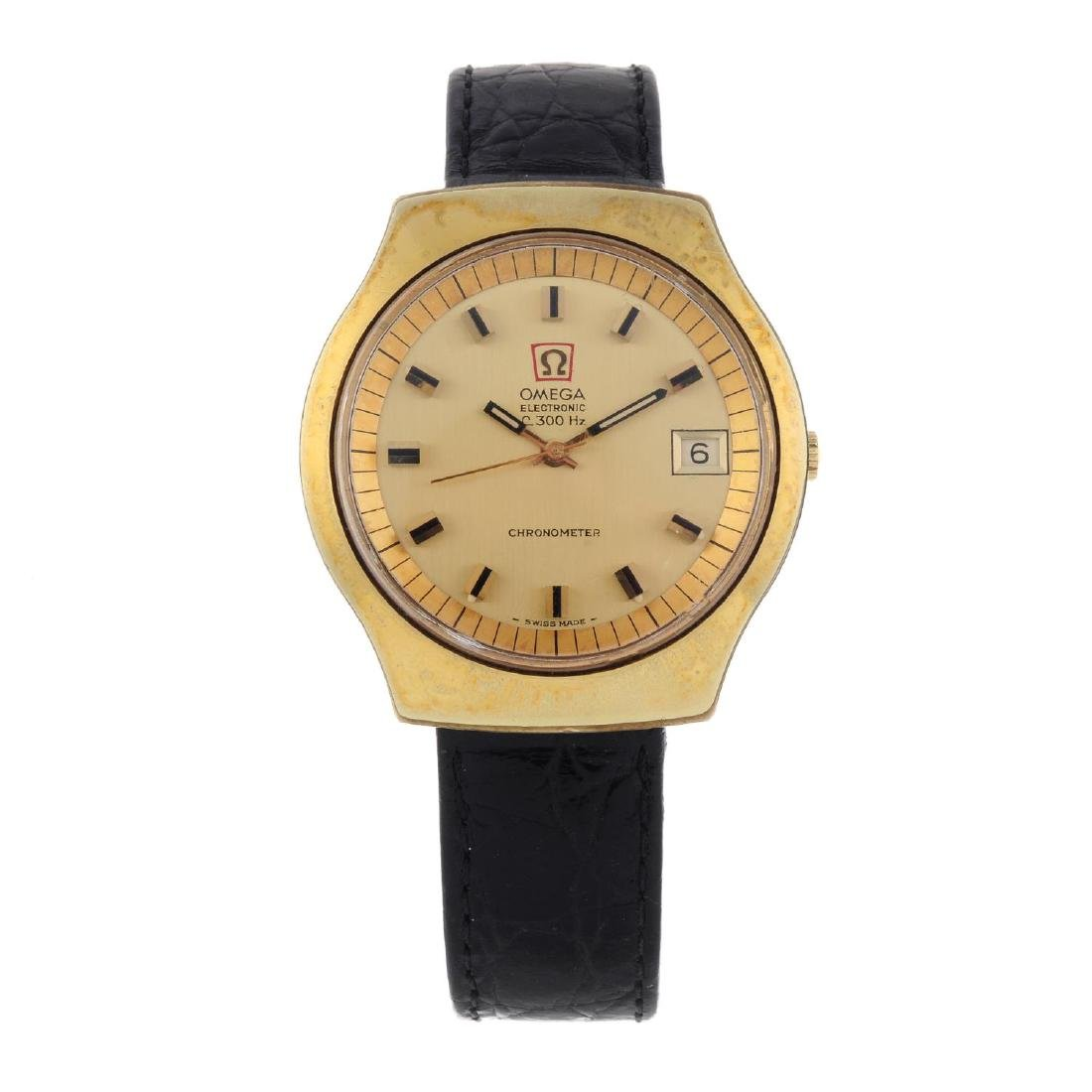 OMEGA - a gentleman's F300Hz wrist watch. Gold plated