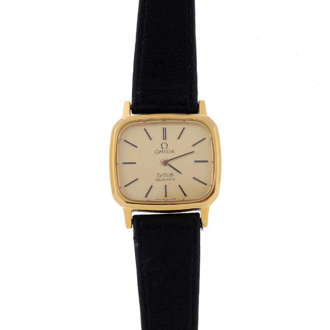OMEGA - a lady's De Ville wrist watch. Gold plated case