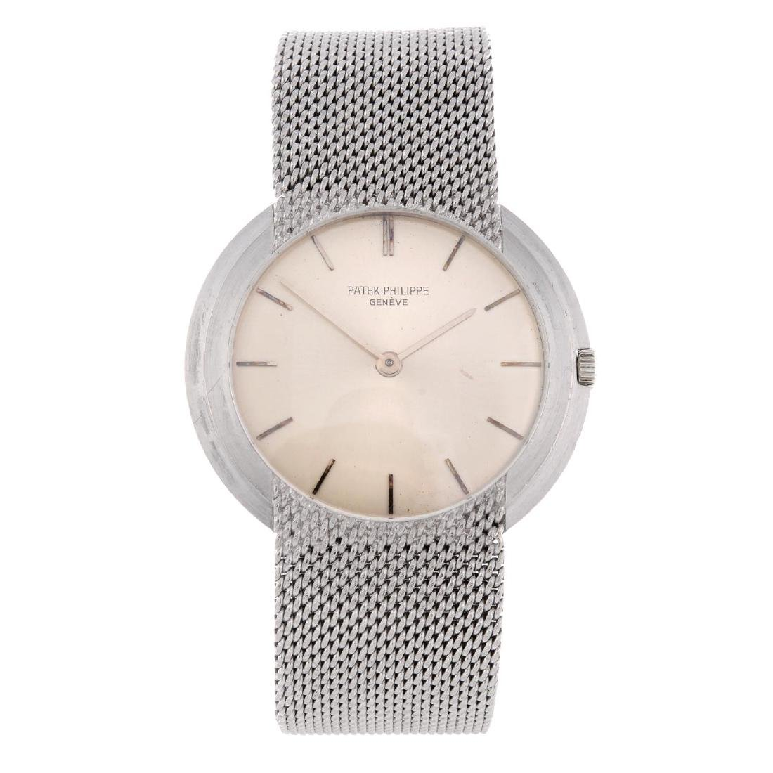 PATEK PHILIPPE - a gentleman's bracelet watch. White
