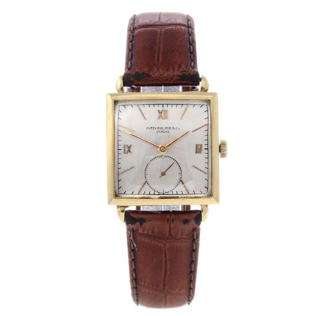PATEK PHILIPPE - a gentleman's wrist watch. Yellow