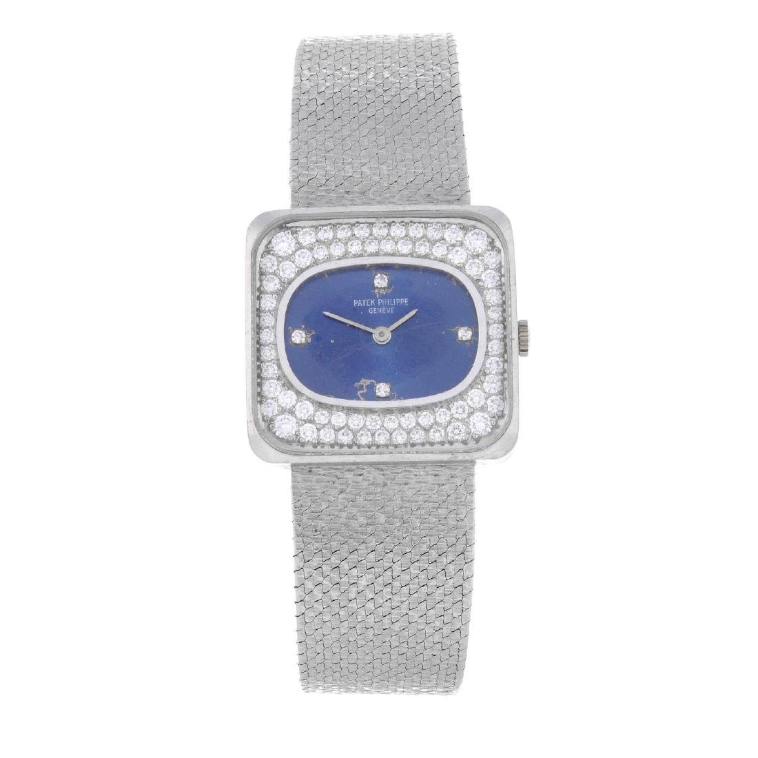 PATEK PHILIPPE - a lady's bracelet watch. White metal