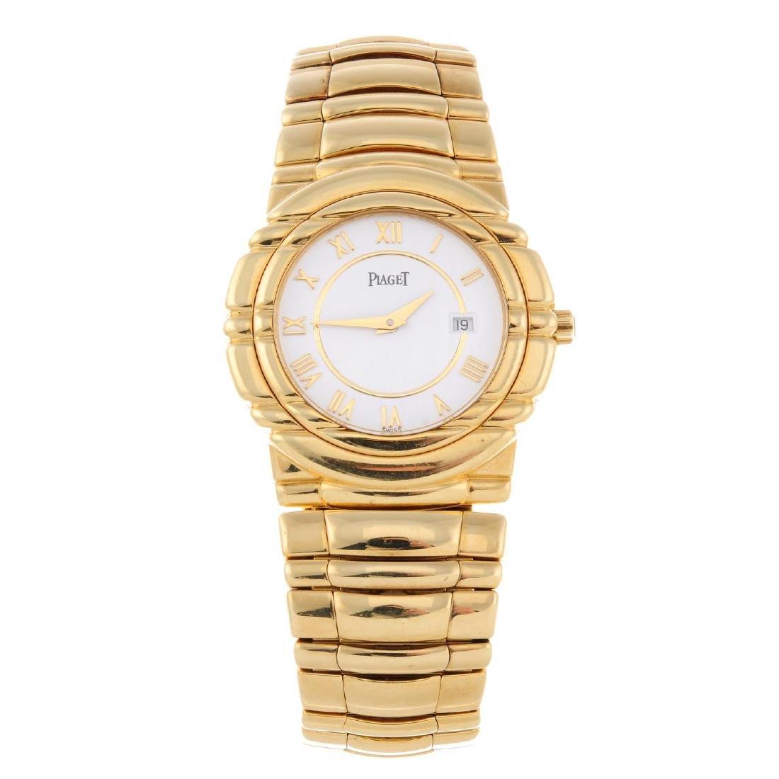 PIAGET - a gentleman's Tanagra bracelet watch. 18ct