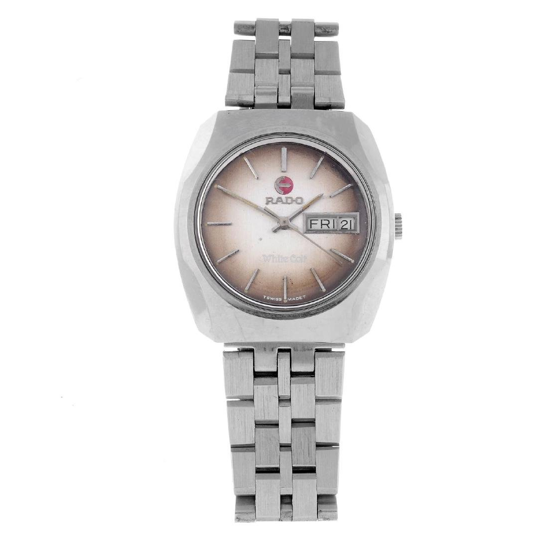 RADO - a gentleman's White Colt bracelet watch.