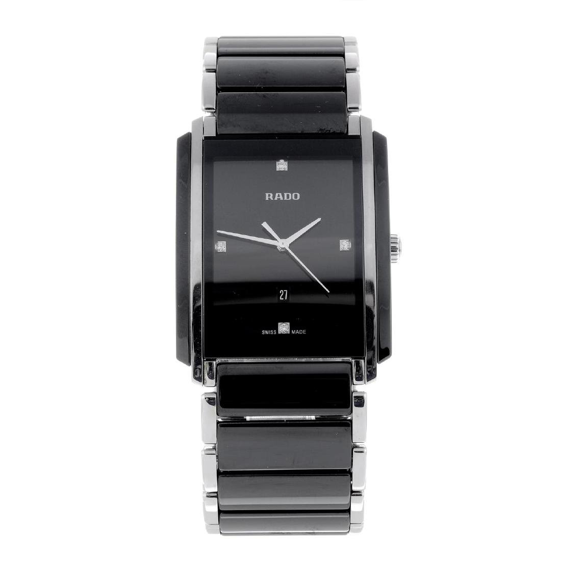 RADO - a gentleman's Integral bracelet watch. Ceramic