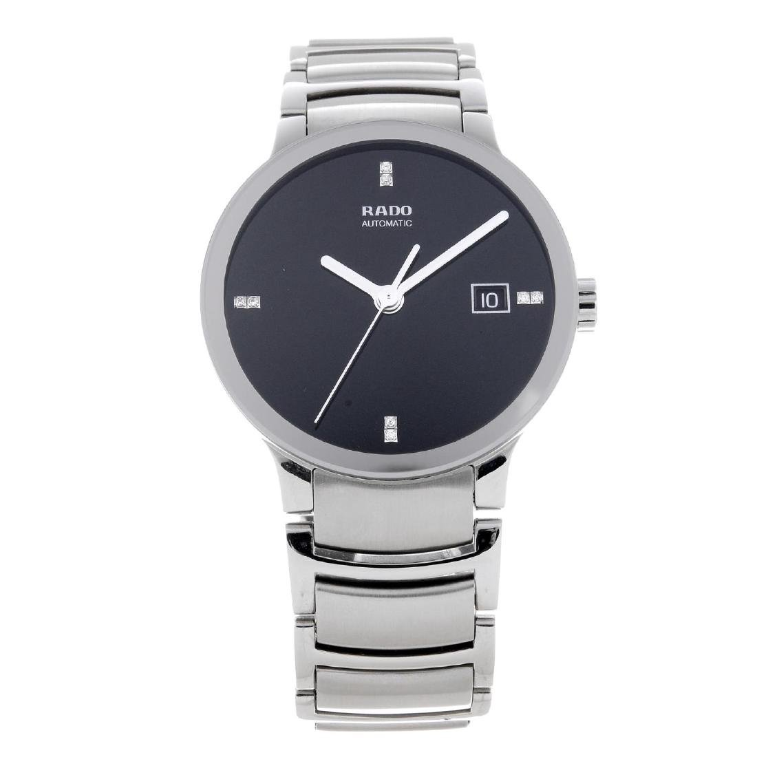 RADO - a gentleman's Centrix bracelet watch. Stainless