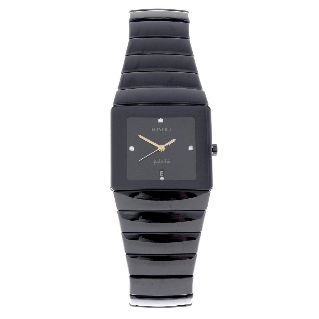 RADO - a mid-size DiaStar bracelet watch. Ceramic case.
