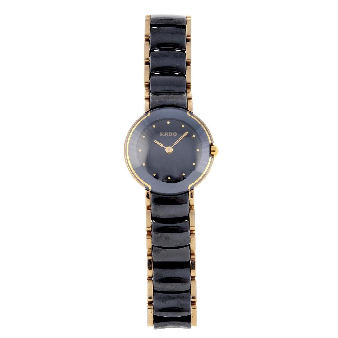 RADO - a lady's DiaStar bracelet watch. Stainless steel