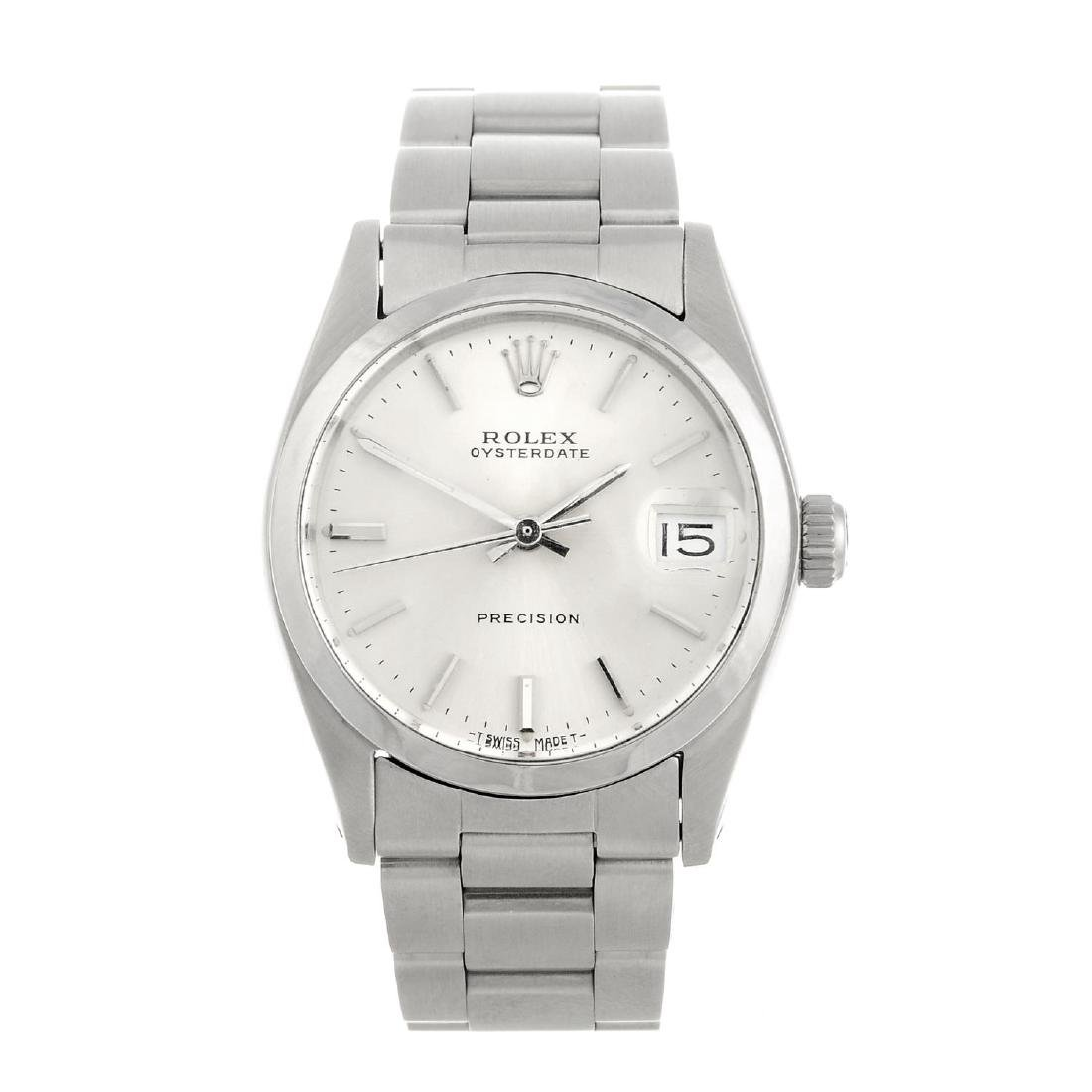 ROLEX - a mid-size Oysterdate Precision bracelet watch.