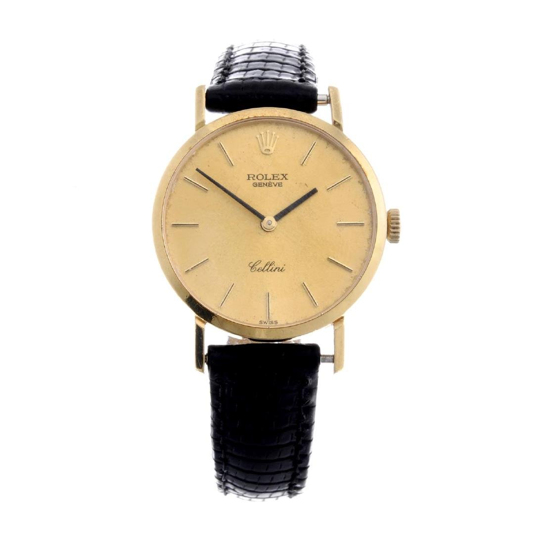 ROLEX - a lady's Cellini wrist watch. Circa 1976.