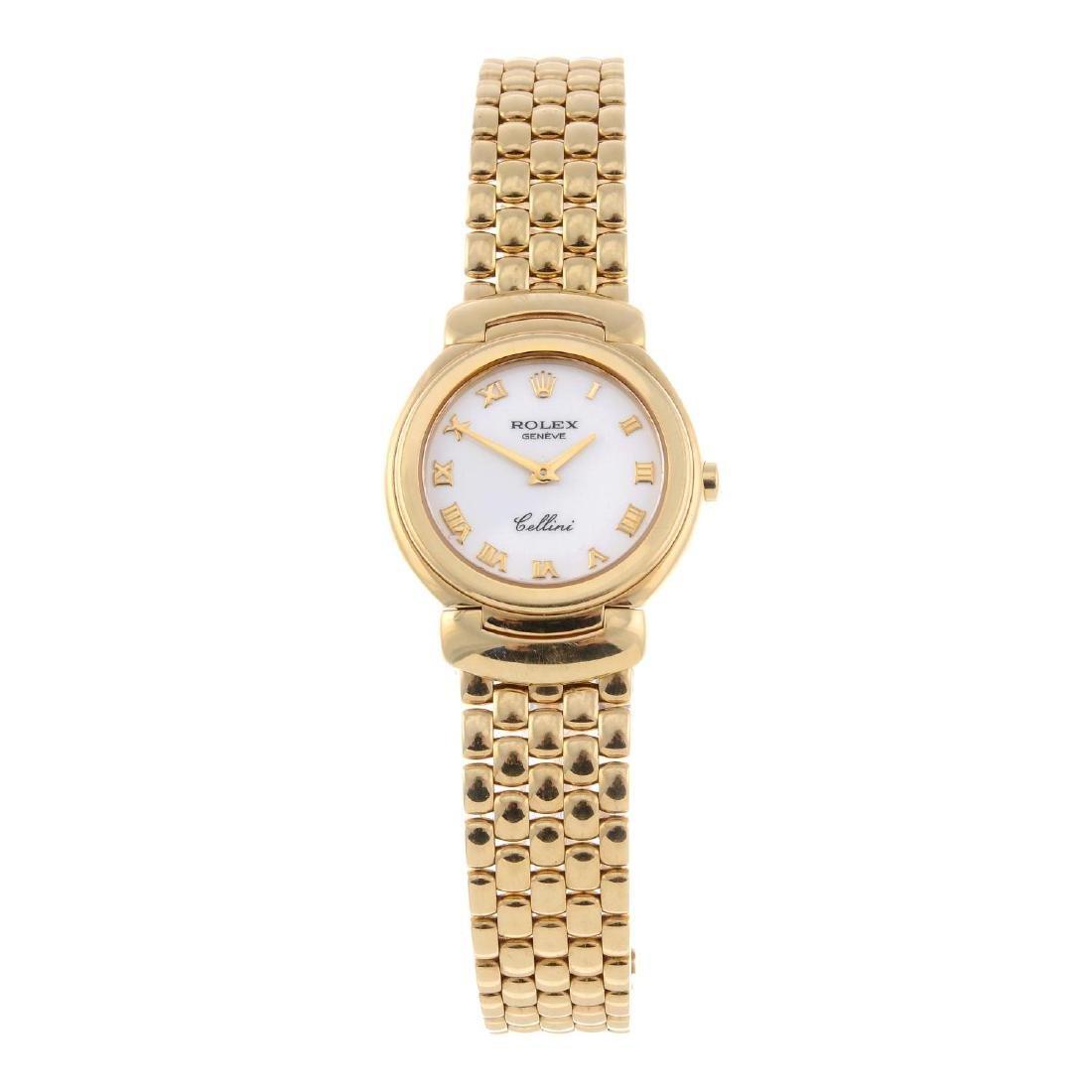 ROLEX - a lady's Cellini bracelet watch. Circa 2001.