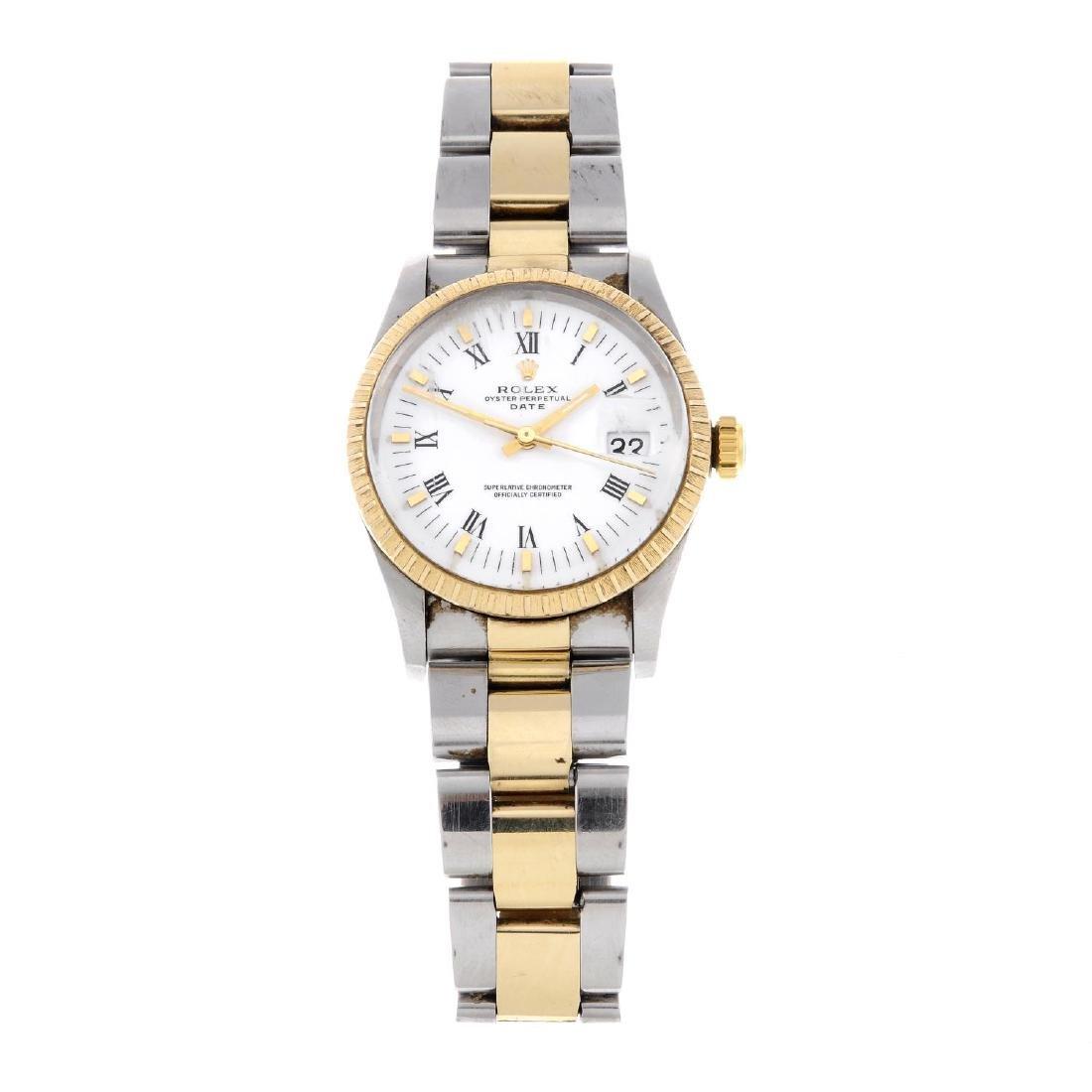 ROLEX - a gentleman's Oyster Perpetual Date bracelet