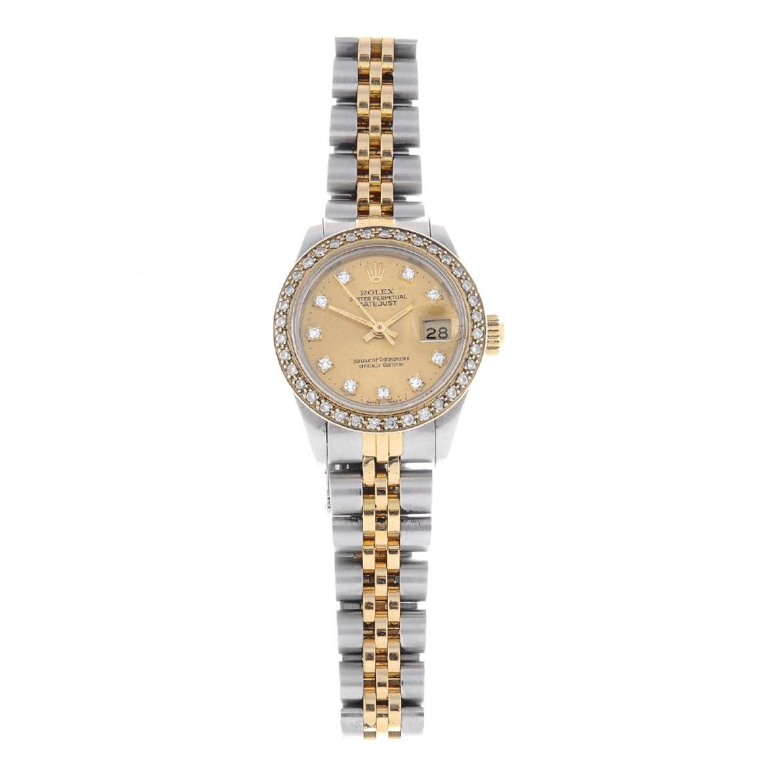ROLEX - a lady's Oyster Perpetual Datejust bracelet