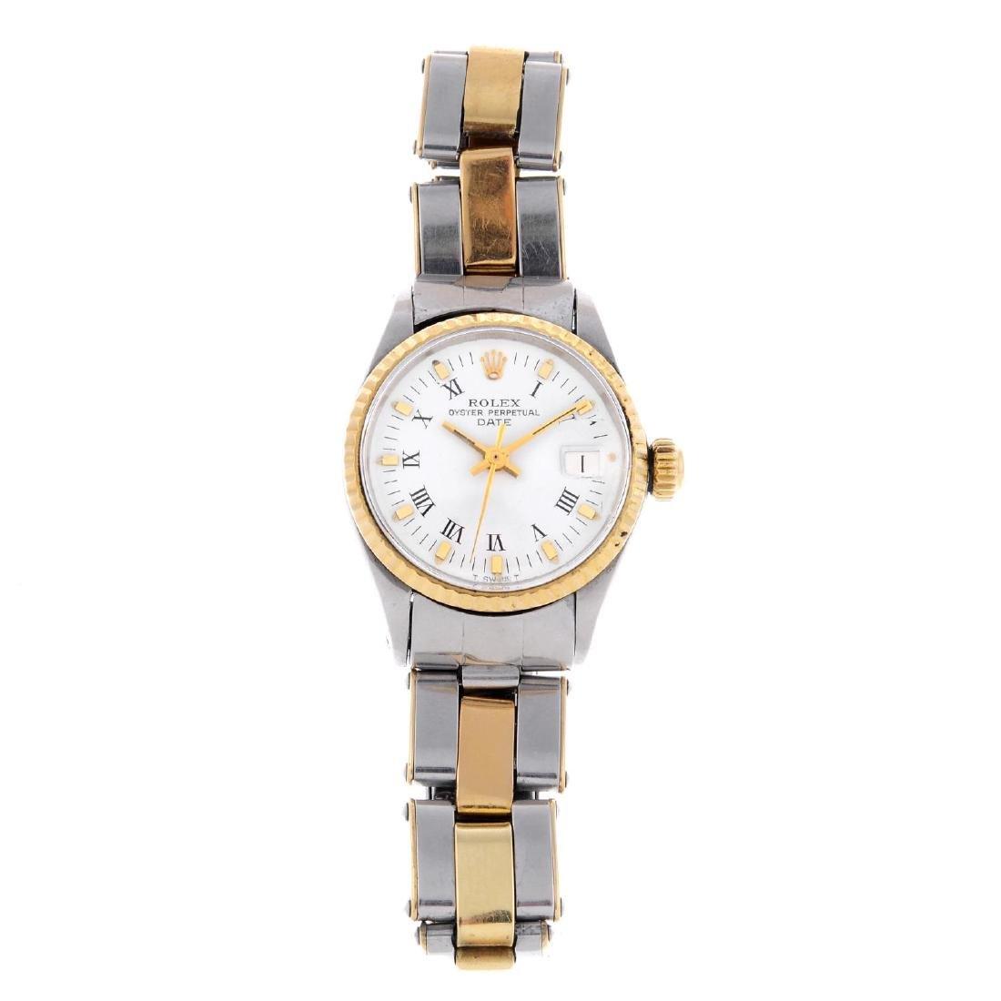 ROLEX - a lady's Oyster Perpetual Date bracelet watch.