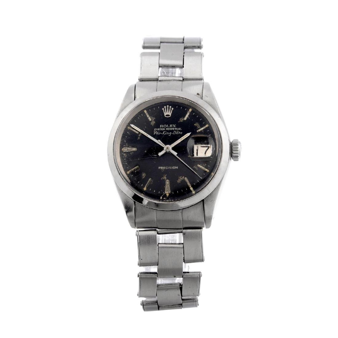 ROLEX - a gentleman's Oyster Perpetual Air-King Date