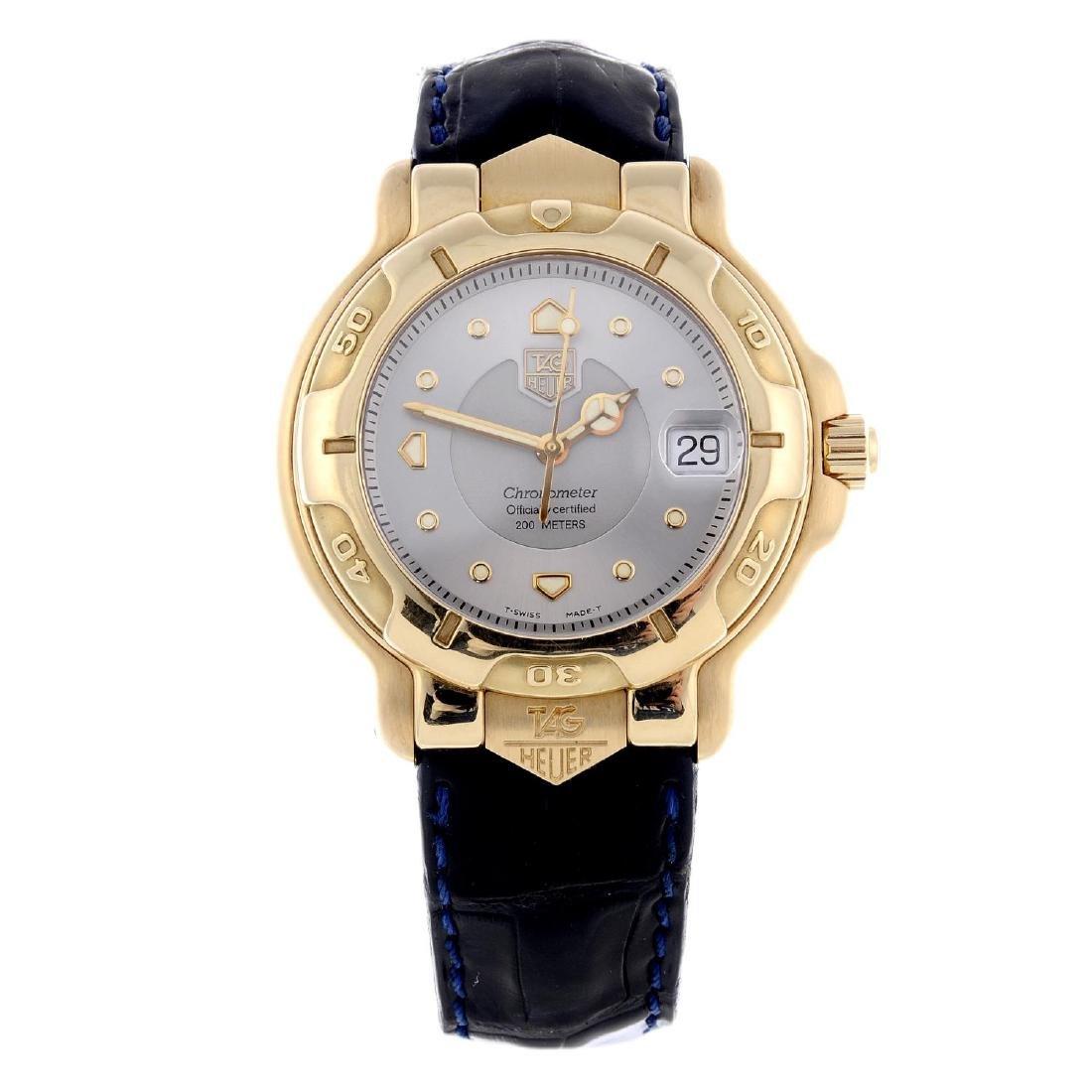 TAG HEUER - a gentleman's 6000 Series wrist watch. 18ct