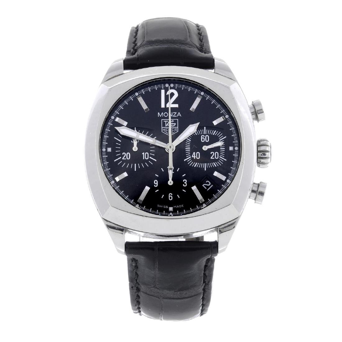 TAG HEUER - a gentleman's Monza chronograph wrist