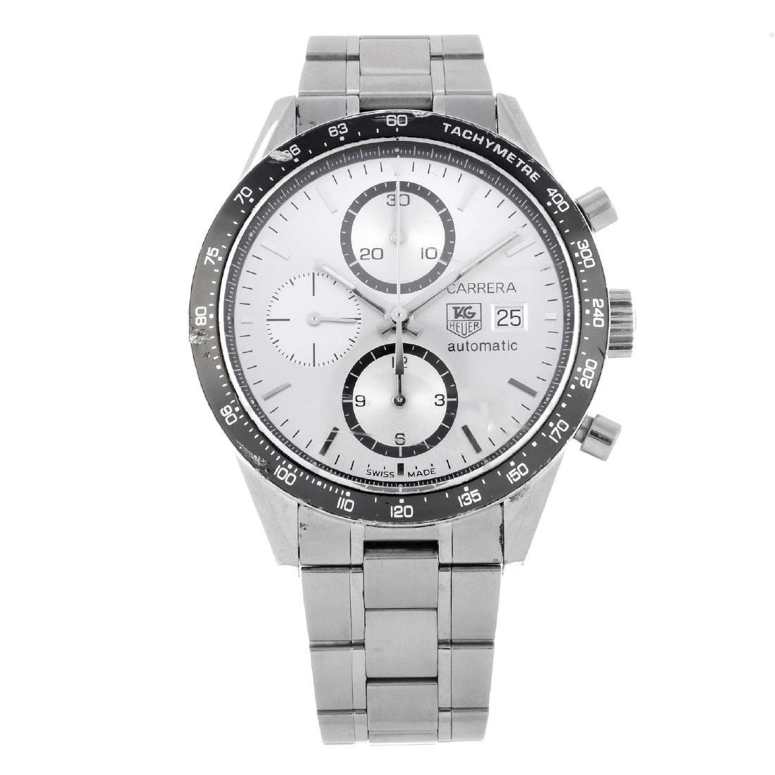 TAG HEUER - a gentleman's Carrera chronograph bracelet