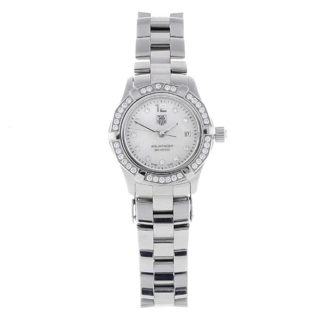 TAG HEUER - a lady's Aquaracer bracelet watch.