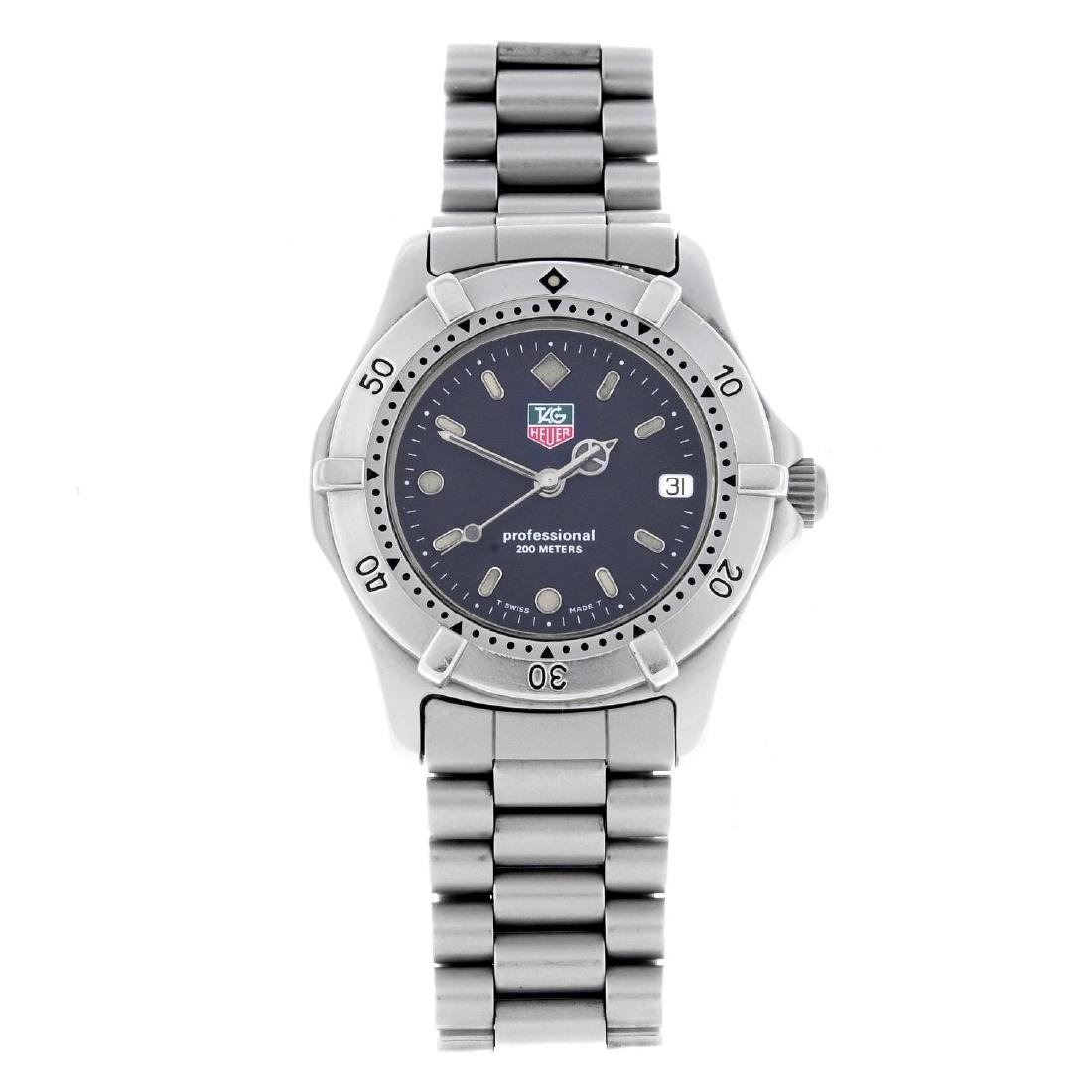 TAG HEUER - a mid-size 2000 Series bracelet watch.