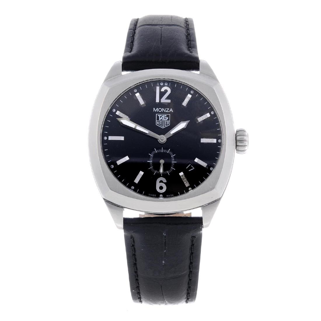 TAG HEUER - a gentleman's Monza wrist watch. Stainless