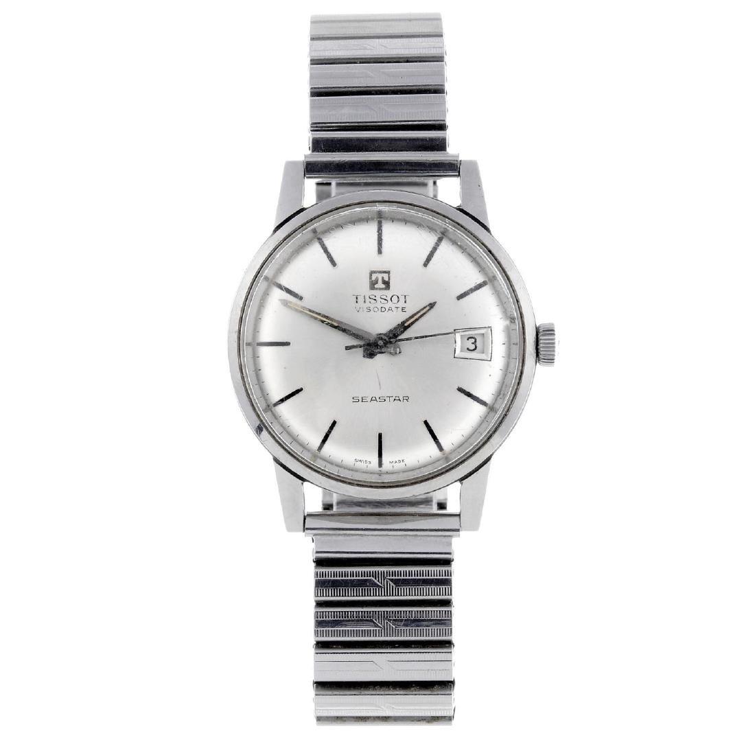TISSOT - a gentleman's Visodate Seastar bracelet watch.