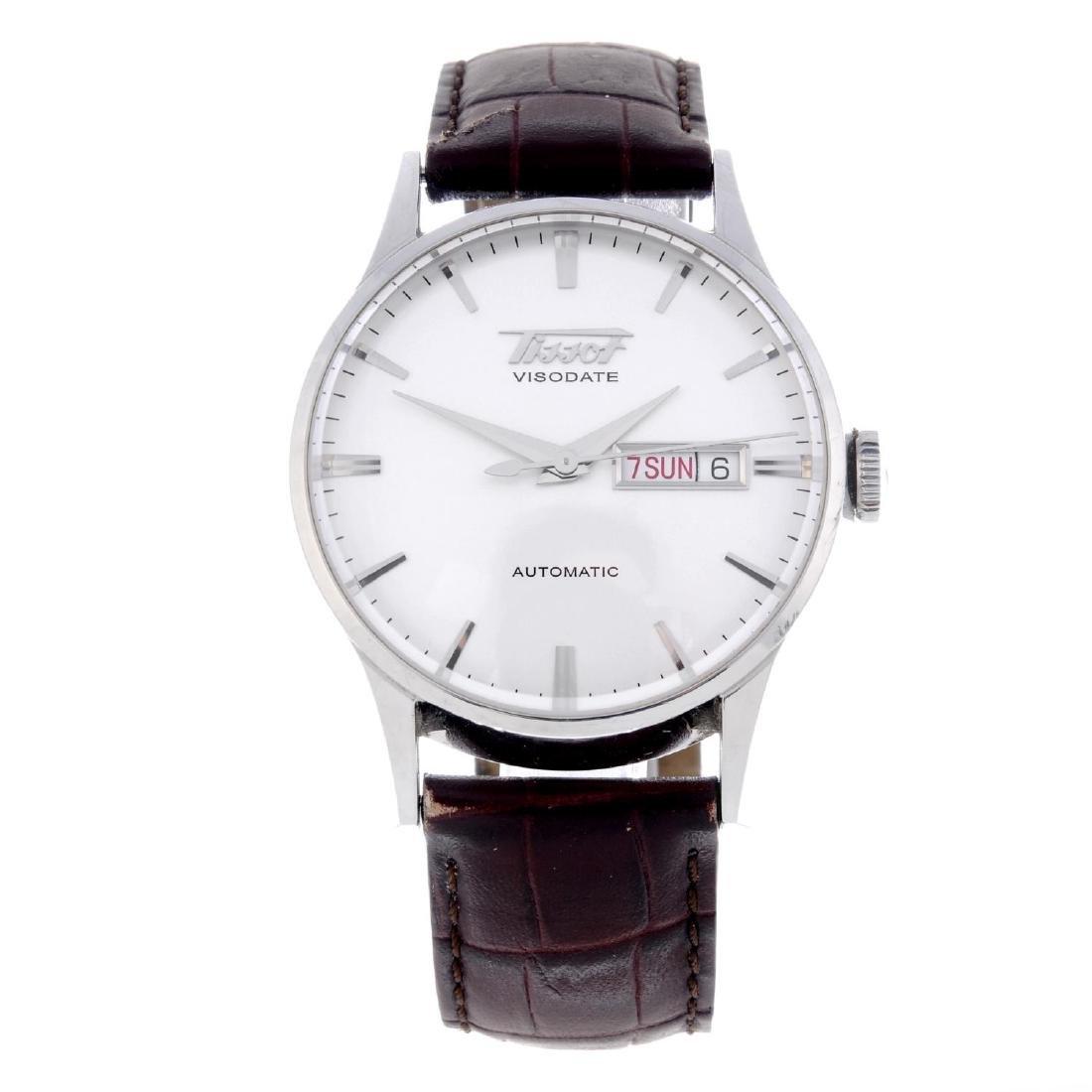 TISSOT - a gentleman's Visodate wrist watch. Stainless