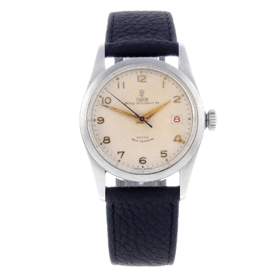 TUDOR - a gentleman's Prince Oysterdate 34 wrist watch.