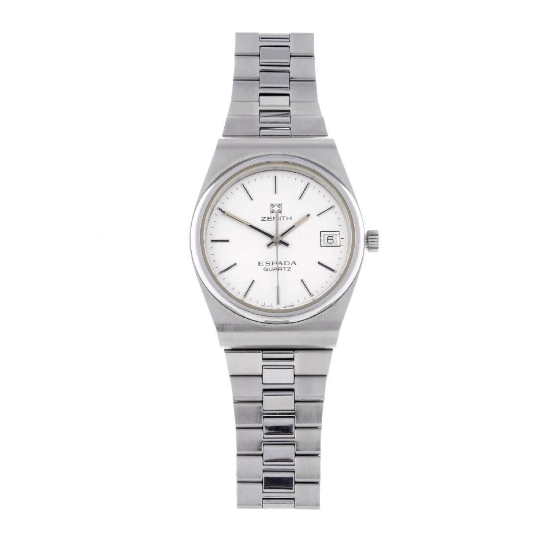 ZENITH - a gentleman's Espada bracelet watch. Stainless