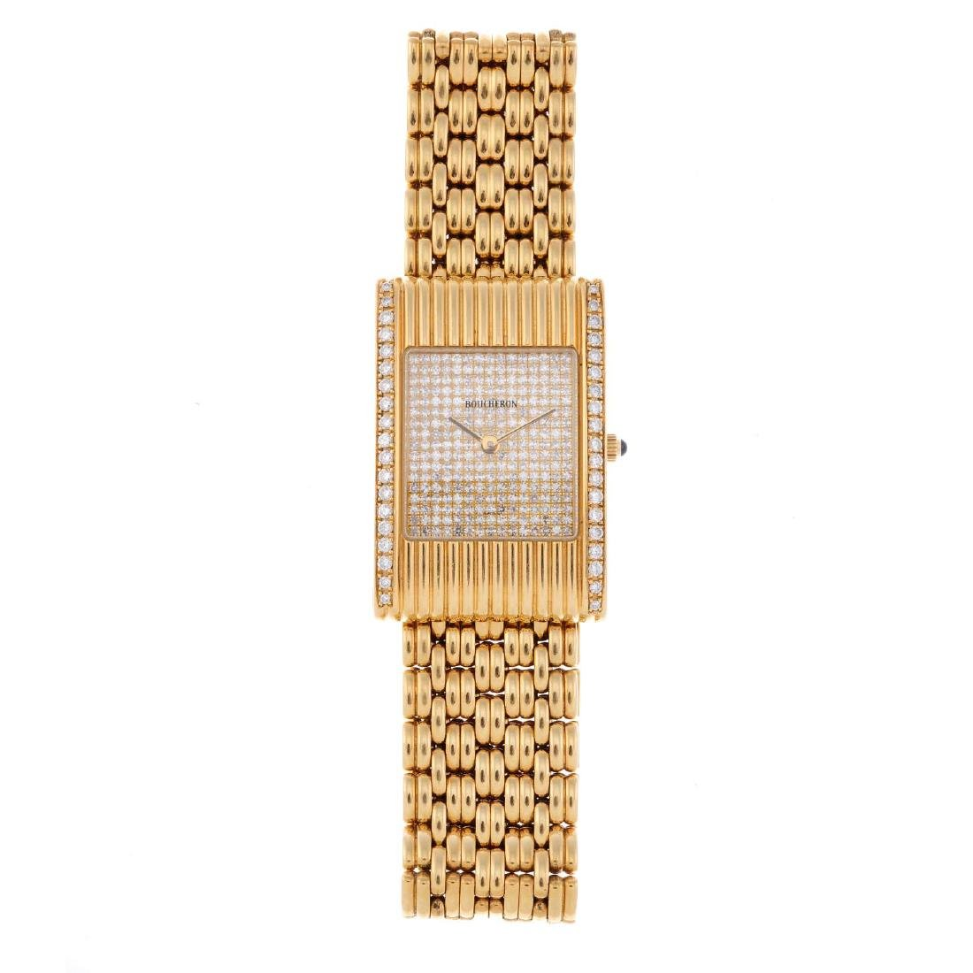 BOUCHERON - a lady's bracelet watch. 18ct yellow gold