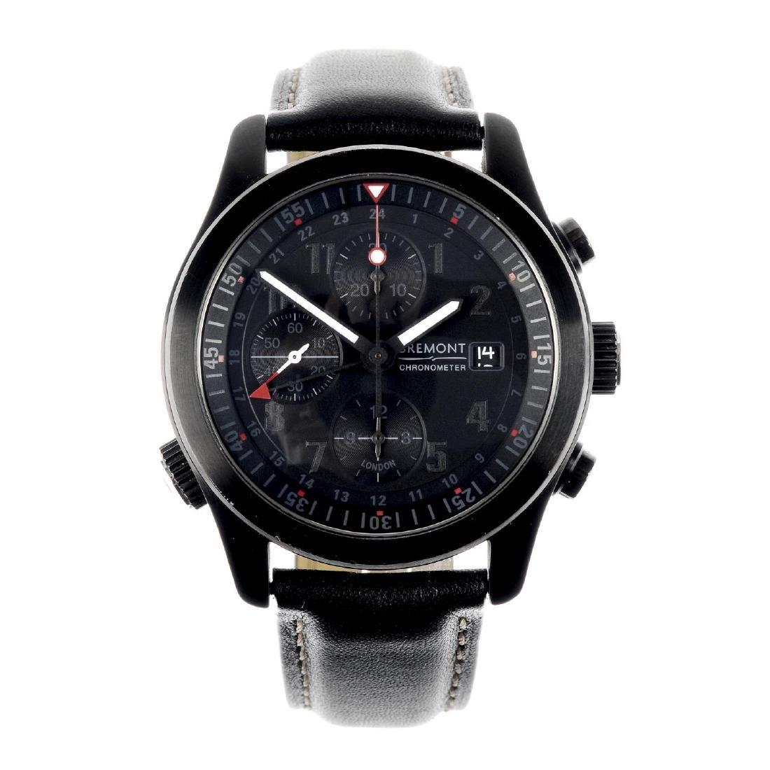 BREMONT - a gentleman's GMT chronograph wrist watch.