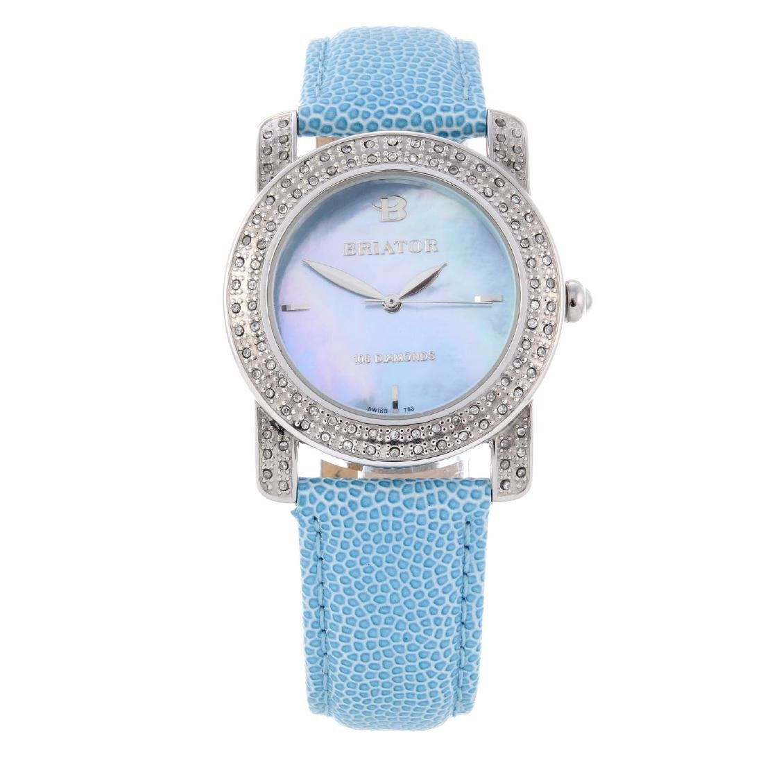 BRIATOR - a lady's wrist watch. Stainless steel case
