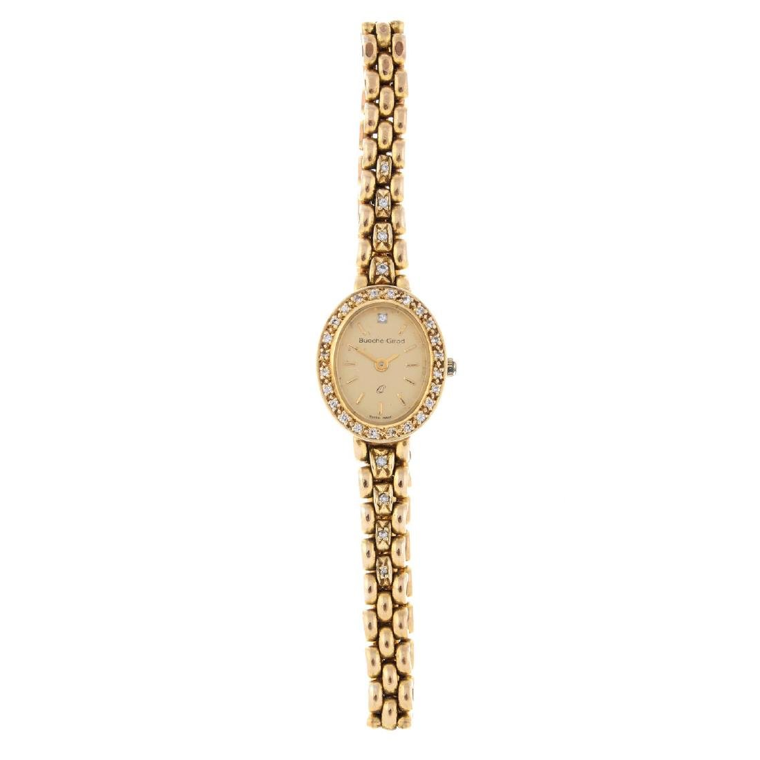 BUECHE-GIROD - a lady's bracelet watch. 9ct yellow gold