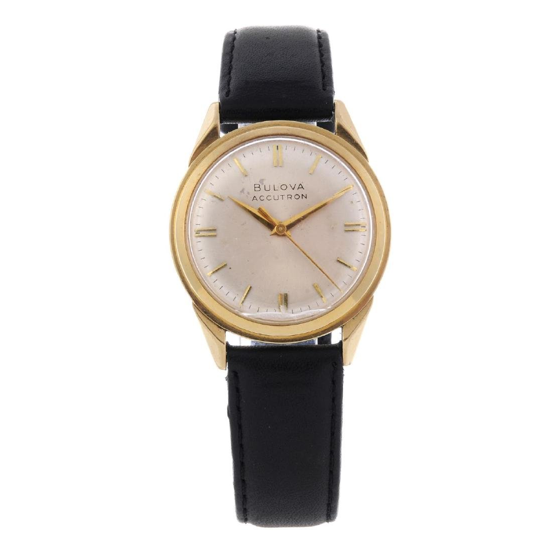 BULOVA - a gentleman's Accutron wrist watch. 18ct