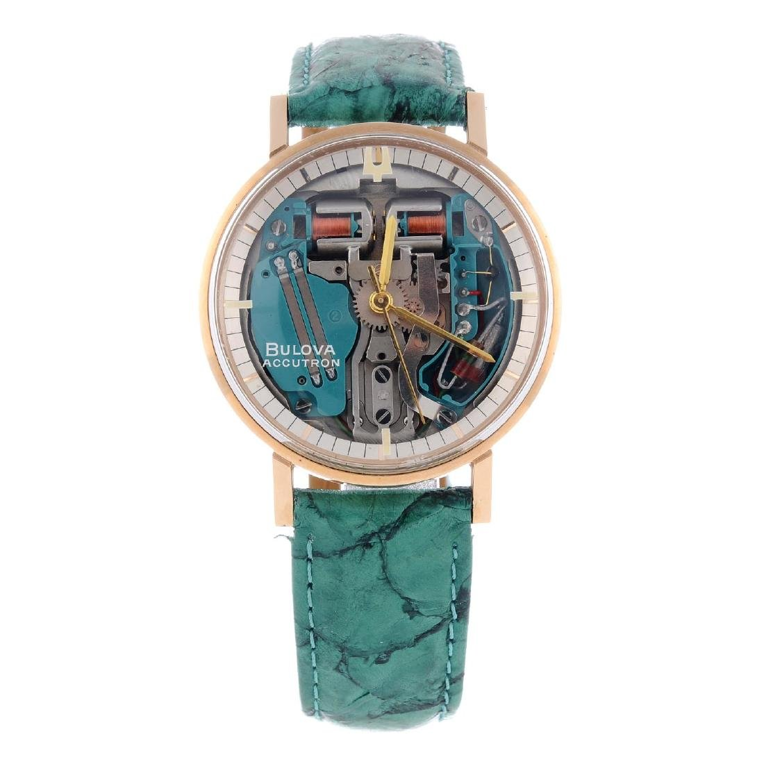BULOVA - a gentleman's Accutron Spaceview wrist watch.
