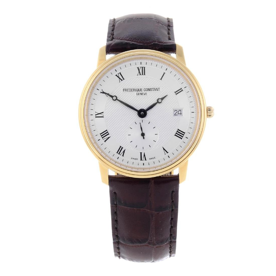 FREDERIQUE CONSTANT - a gentleman's gold plated wrist