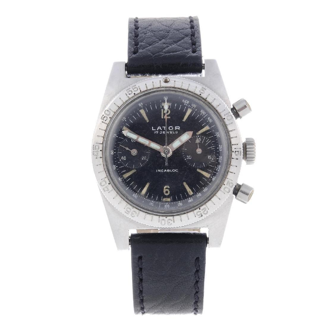 LATOR - a gentleman's chronograph wrist watch.