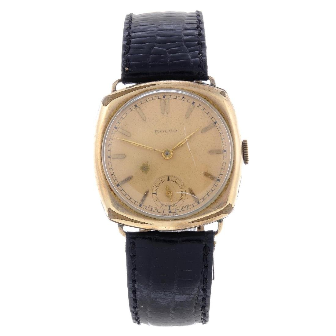 ROLCO - a gentleman's wrist watch. Gold plated case.